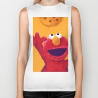 elmo Biker Tanks featuring Cookies 2 by Lime