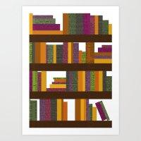 books Art Prints featuring Books by Sara Robish Andrews