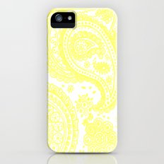 Yellow Paisley Slim Case iPhone (5, 5s)