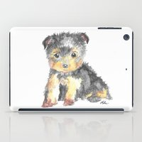 yorkie iPad Cases featuring Yorkie Pup by The Painted Lace