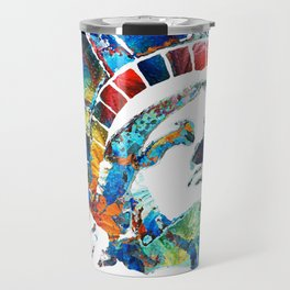 Colorful Statue Of Liberty - Sharon Cummings Travel Mug