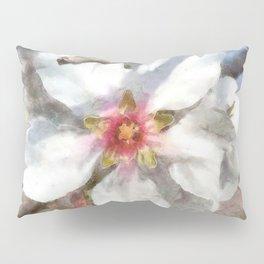 Almond Blossom Study Watercolor Pillow Sham