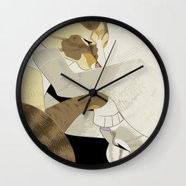 Gourdie and Pumpkin Wall Clock