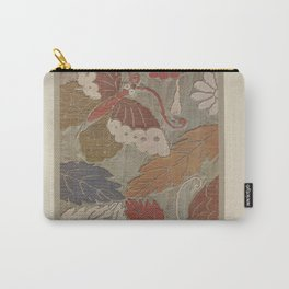 Verneuil - Japanese paper and fabric designs (1913) - 61: Butterflies and foliage Carry-All Pouch