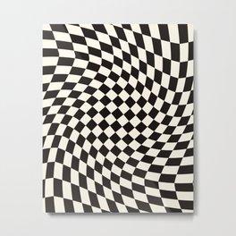 Black&White Checker Metal Print
