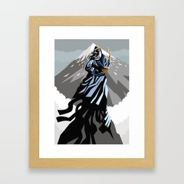 great chinese philosopher thinker on moutain peak Framed Art Print