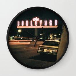 the boulevard Wall Clock