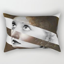 Leonardo Da Vinci's Angel & Bette Davis Rectangular Pillow