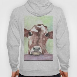Cow portrait, farmhouse, country home, farm animal Hoody