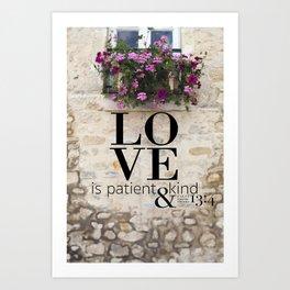 True Love  //  I Corinthians 13:4 Art Print