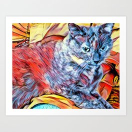 The TORTIE from our FUNK YOUR FELINE line Art Print