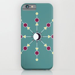 Moon Mandala iPhone Case