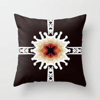 gift card Throw Pillows featuring A Gift for You by barefoot art online