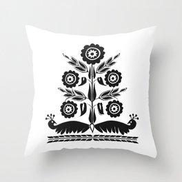 Khasi Tribal Art Motif Throw Pillow