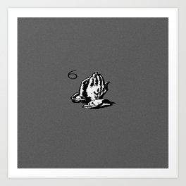 Drake Praying Hands 6 Art Print