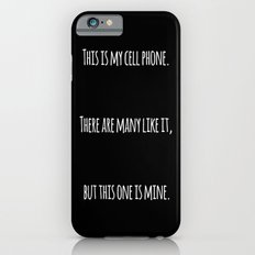 Cell Phone Cover Black iPhone 6s Slim Case