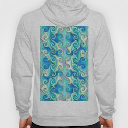 Seamless Wave Spiral Abstract Pattern Hoody