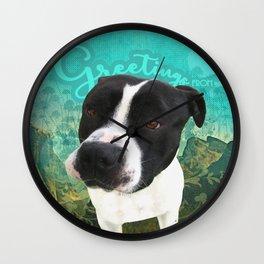 BOB (shelter pup) Wall Clock