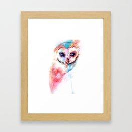 Watercolour Barn Owl Framed Art Print