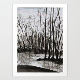 Brent skog - Gerlinde Streit Art Print
