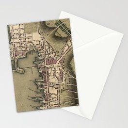 Vintage Map of Newport Rhode Island (1777) Stationery Cards