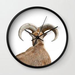 Goat Horns Wall Clock