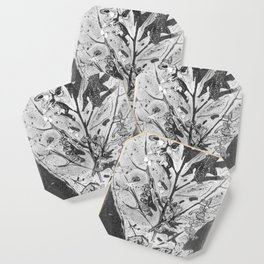 Fiddle Leaf Fig Bouquet ( Leaf Monotype Print Series) Coaster