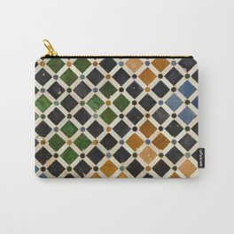 Comares Palace Wall. The Alhambra palace. Details Carry-All Pouch