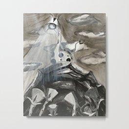 Giraffe-a-lamp Colony Metal Print
