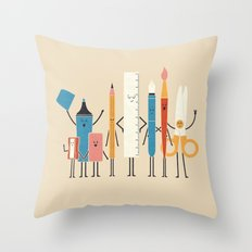 Classmates Throw Pillow