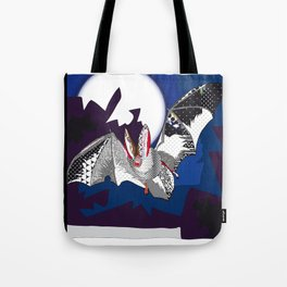 bat pattern Tote Bag