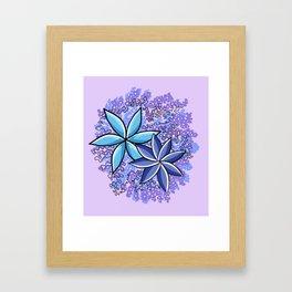 Purple | Fleur Framed Art Print