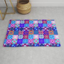 Bohemian Jungle Quilt Tiles 2 Rug