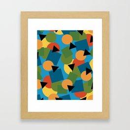 Geo-Toss Framed Art Print