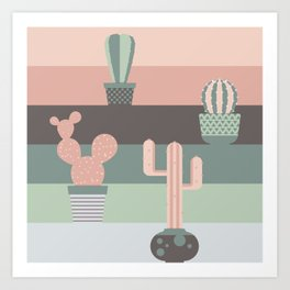 cacti colors Art Print