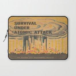 Vintage poster - Survival under atomic attack Laptop Sleeve