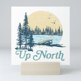 Vintage Up North Lake Mini Art Print