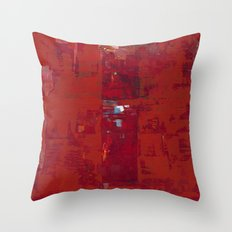 Solomon Abstract Red Modern Art Painting Shawn McNulty Throw Pillow