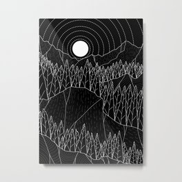 The dark forest and hills Metal Print