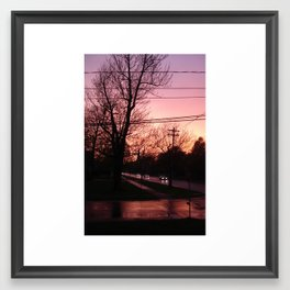 Sunset on Elm St.  Framed Art Print