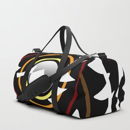 Patches in black and white Duffle Bag
