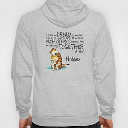 Calvin and Hobbes Dreams Quote Hoody