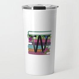 Bookish Monogram Collection W Travel Mug