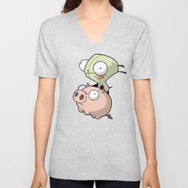 Gir and Piggy Unisex V-Neck