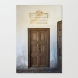 Washington Irving Door- Alhambra Palace Canvas Print