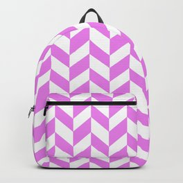 HERRINGBONE (VIOLET & WHITE) Backpack