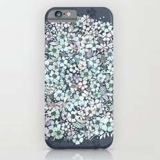 Flower Circle, mist blue Slim Case iPhone 6s