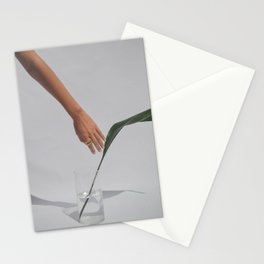Hand with a Leaf Stationery Cards