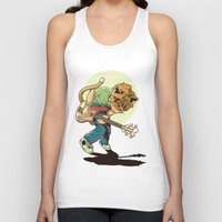 scott pilgrim Tank Tops featuring Cat Pilgrim Versus The Litterbox of the World! by RHOB Designs