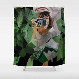 Girl in nature Shower Curtain